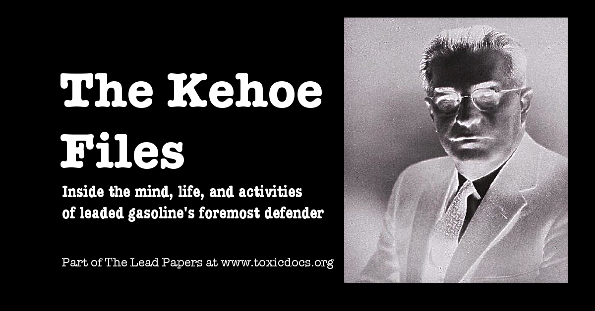 The Kehoe Files: Part 1 of The Lead Papers